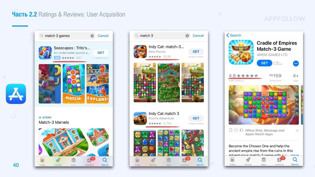 40 Часть 2.2 Ratings & Reviews: User Acquisition