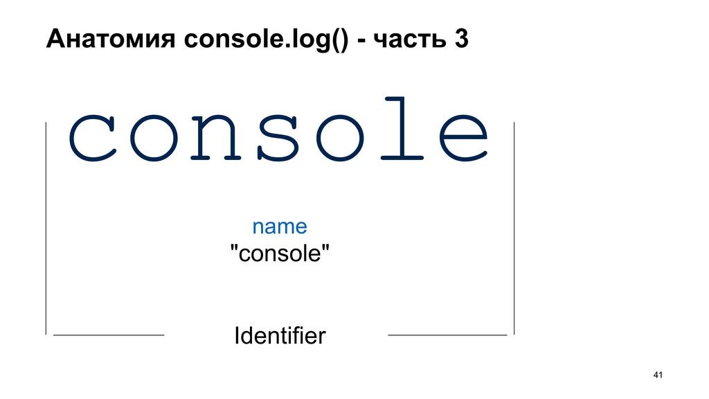 Анатомия console.log() - часть 3 >41 console Id...