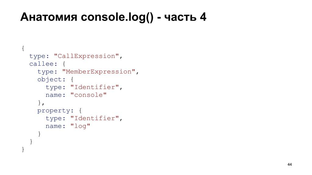 """Анатомия console.log() - часть 4 >44 { type: """"C..."""