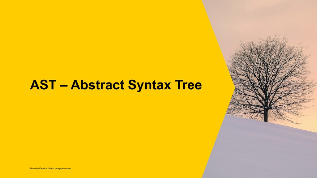 AST – Abstract Syntax Tree Photo by Fabrice Vil...