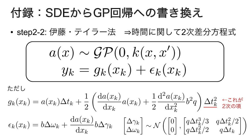 ɿ4%&͔Β(1ճؼͷॻ͖͑ • step2-2: ҏ౻ɾςΠϥʔ๏ ⇒ؒʹؔͯ͠2...