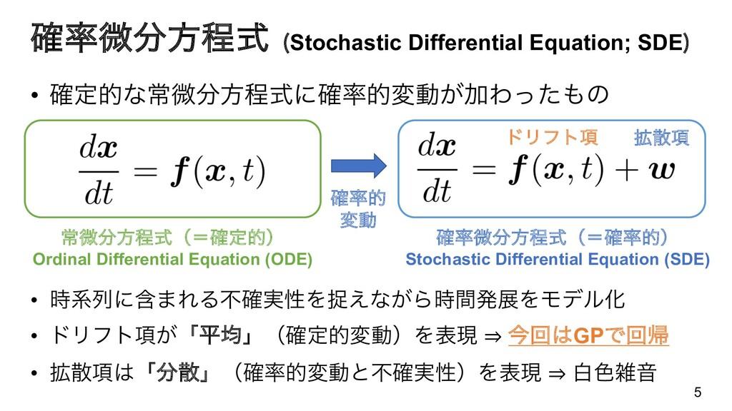 ֬ඍํఔࣜ Stochastic Differential Equation; SDE  ...