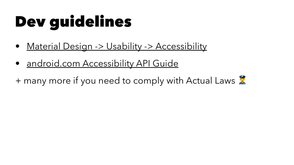 Dev guidelines • Material Design -> Usability -...