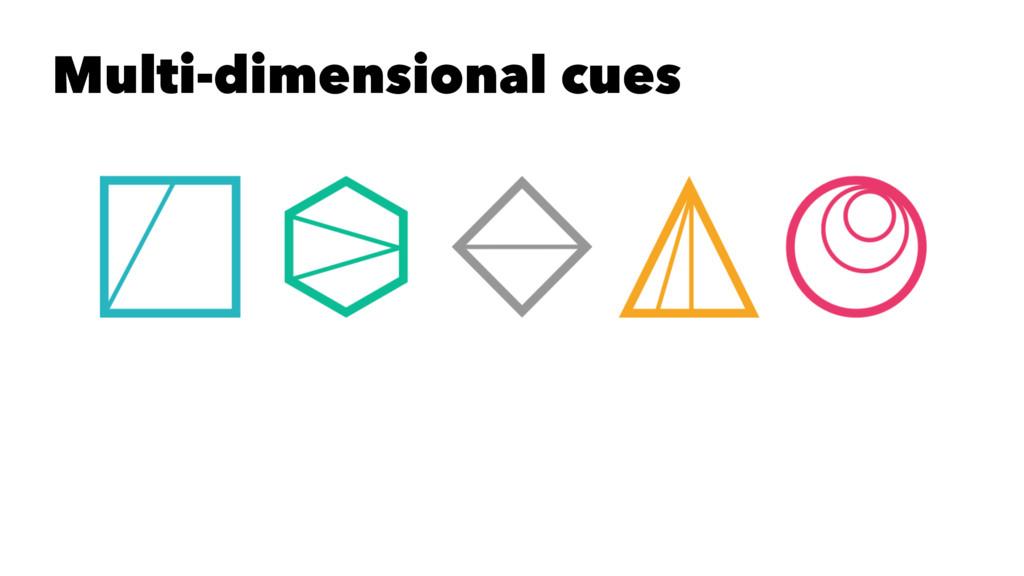 Multi-dimensional cues