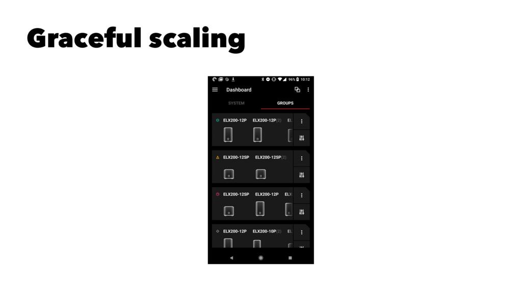 Graceful scaling