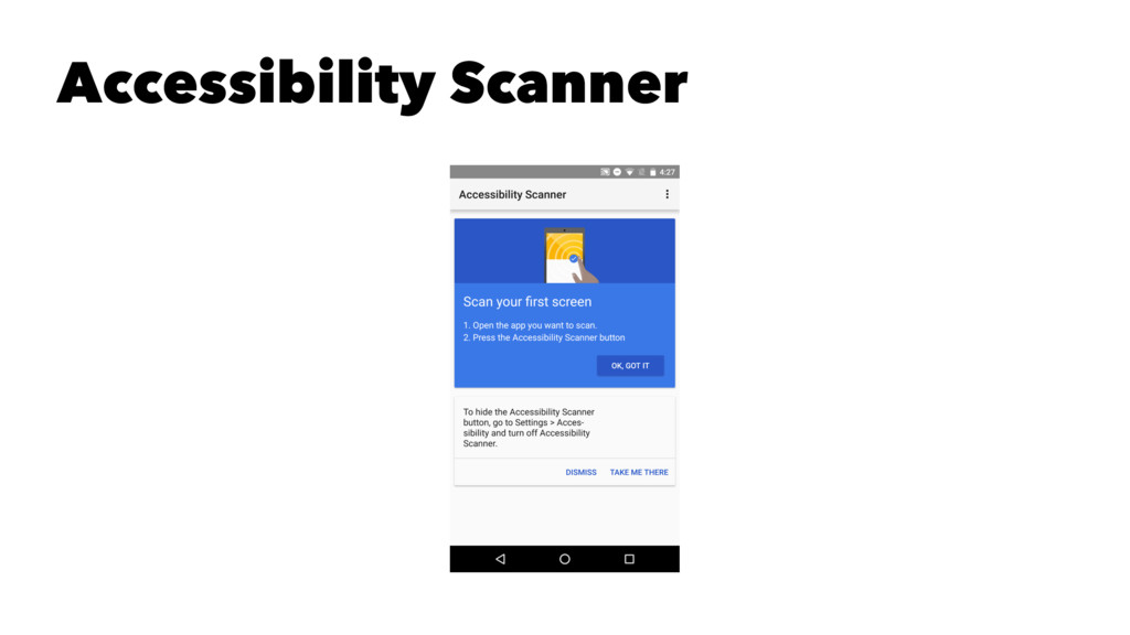 Accessibility Scanner