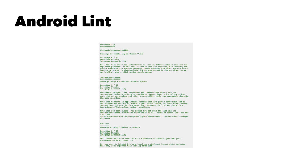 Android Lint