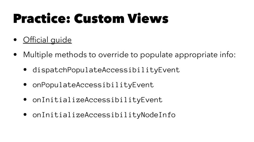 Practice: Custom Views • Official guide • Multip...