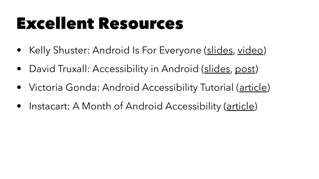 Excellent Resources • Kelly Shuster: Android Is...