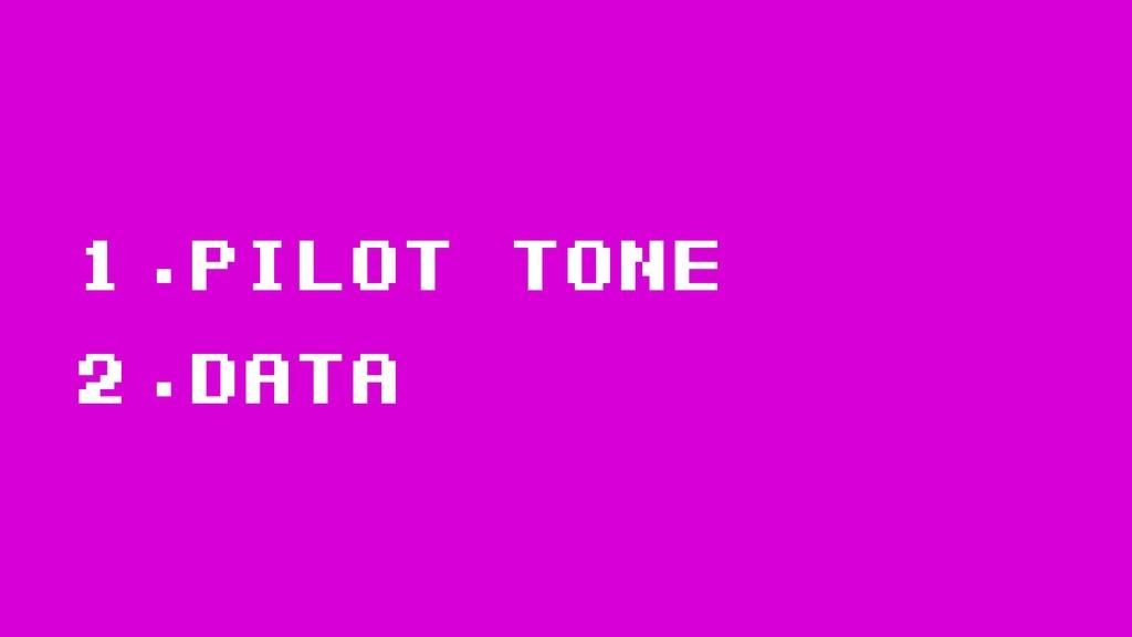 1.Pilot tone 2.data