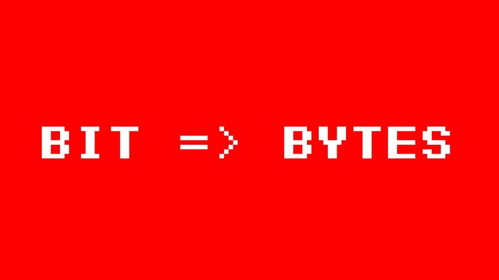 BIT => Bytes