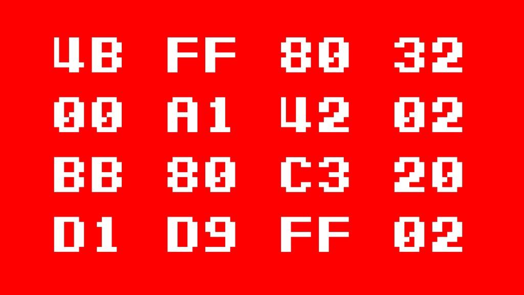 4b FF 80 32 00 a1 42 02 BB 80 c3 20 d1 d9 ff 02