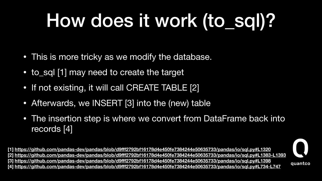 How does it work (to_sql)? • This is more trick...