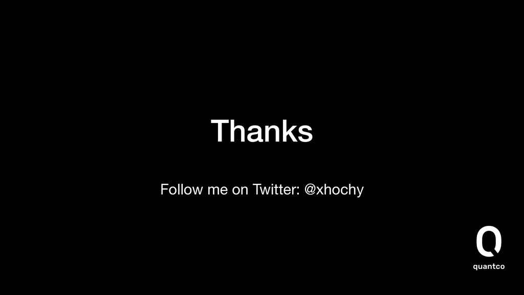Thanks Follow me on Twitter: @xhochy