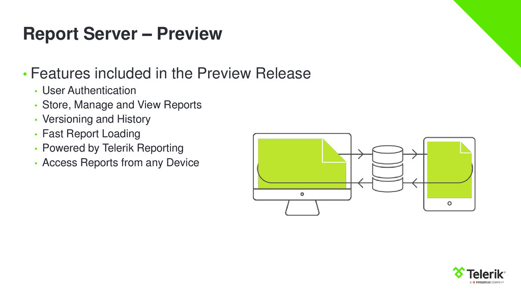 Report Server – Preview • Features included in ...