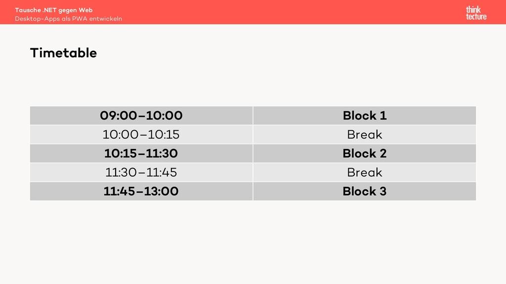 09:00–10:00 Block 1 10:00–10:15 Break 10:15–11:...
