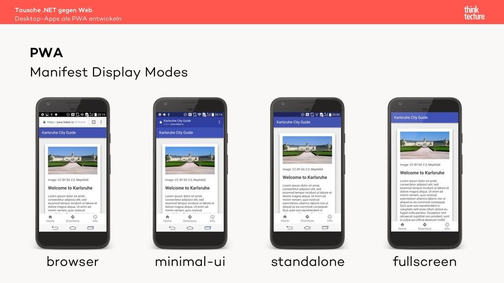 Manifest Display Modes Tausche .NET gegen Web D...