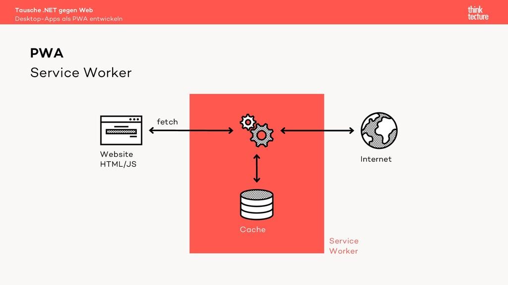 Service Worker Tausche .NET gegen Web Desktop-A...
