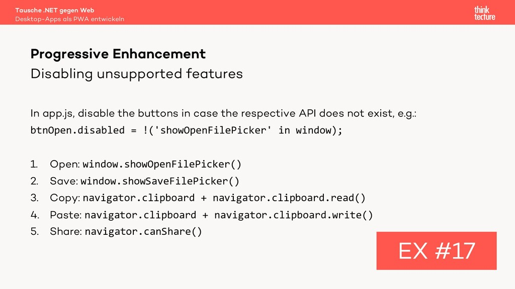Disabling unsupported features In app.js, disab...