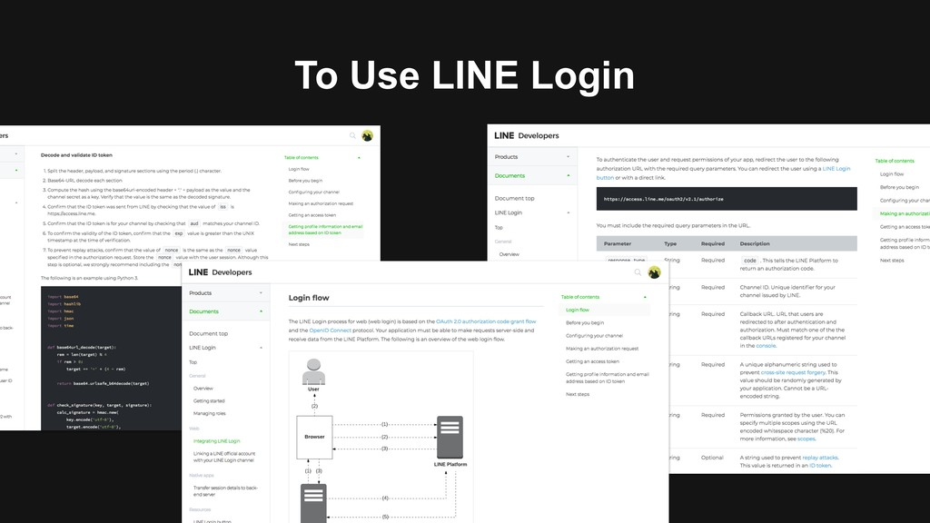 To Use LINE Login