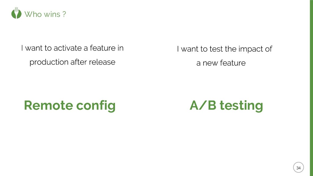 Who wins ? Remote config A/B testing