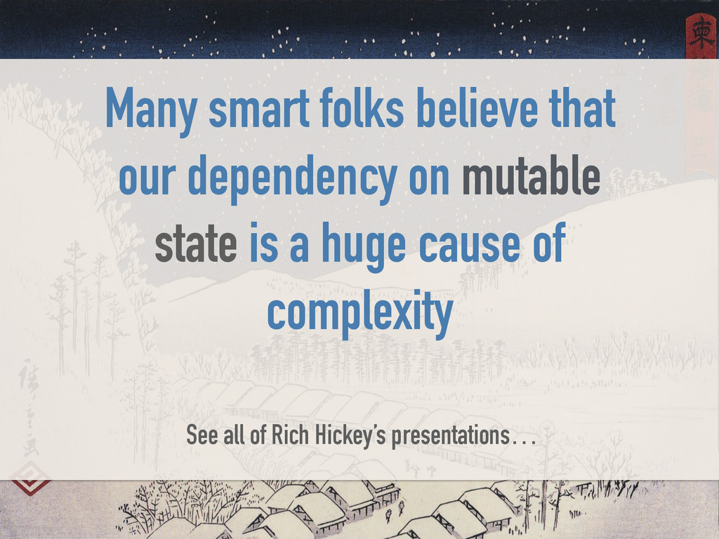 Many smart folks believe that our dependency on...
