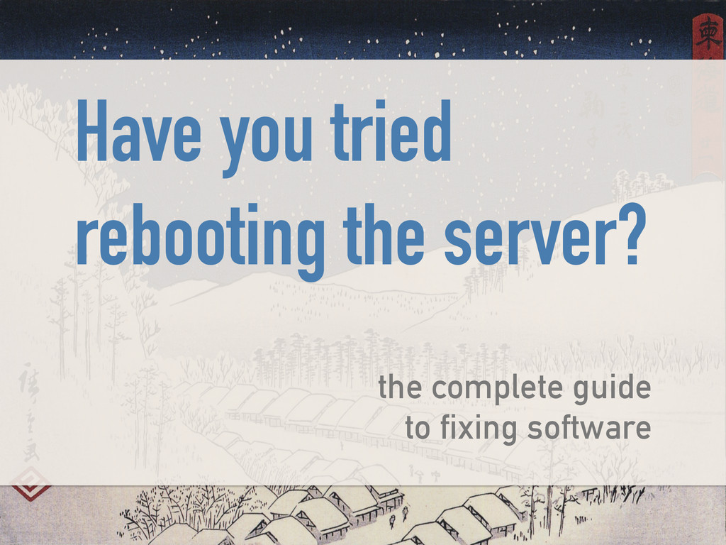 Have you tried rebooting the server? ! the comp...