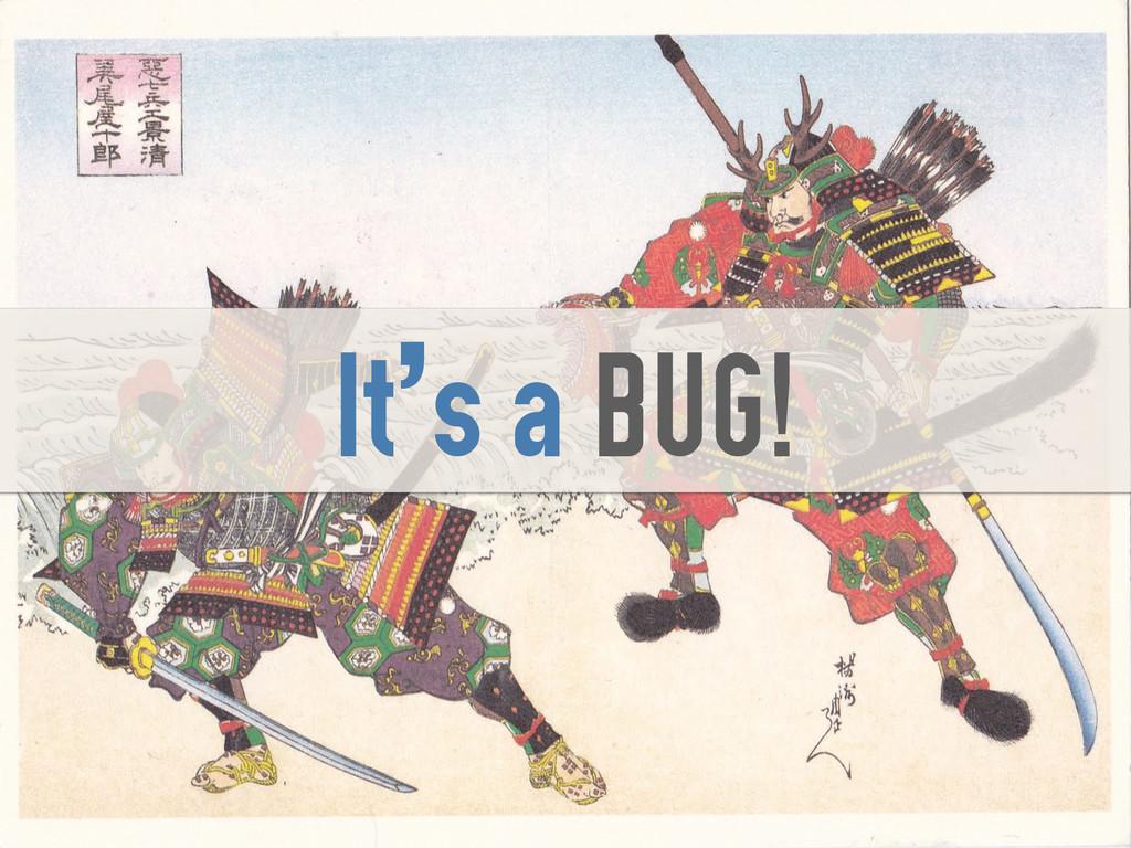 It's a BUG!