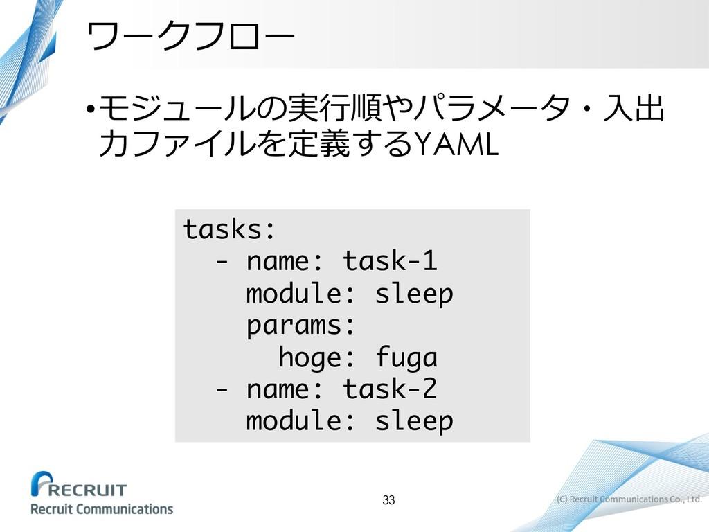 •  YAML tasks...