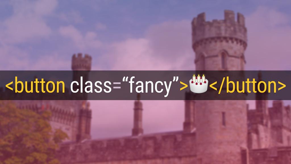 """<button class=""""fancy""""></button>"""