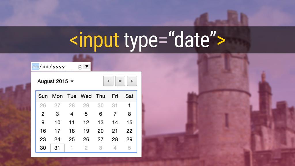 """<input type=""""date"""">"""