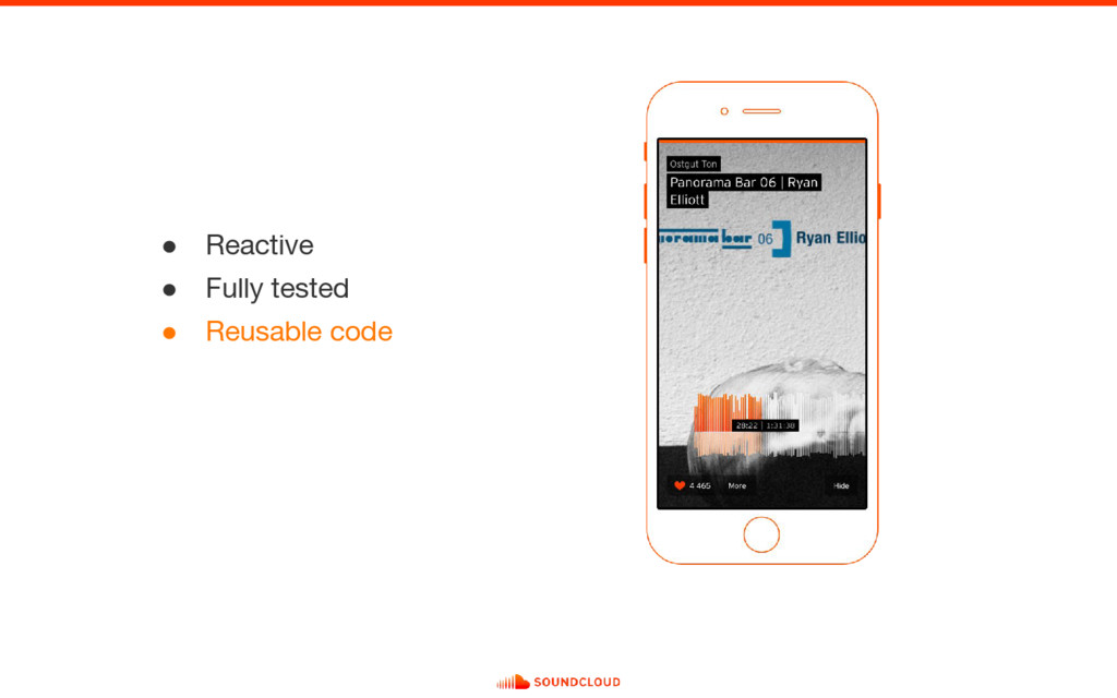 ● Reactive ● Fully tested ● Reusable code