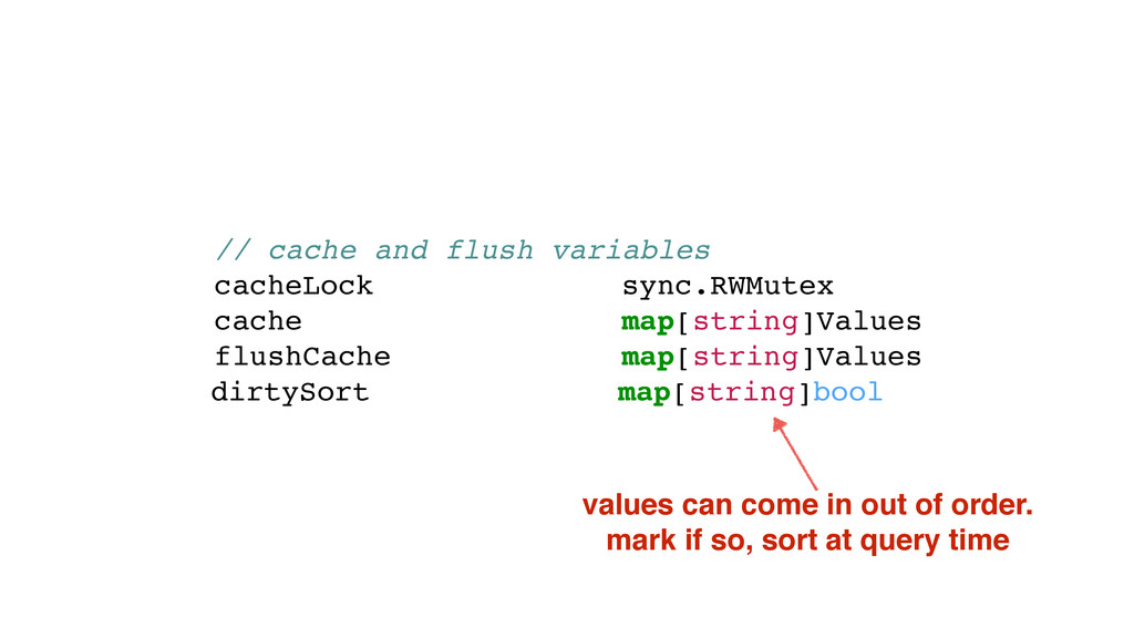 // cache and flush variables cacheLock sync.RWM...
