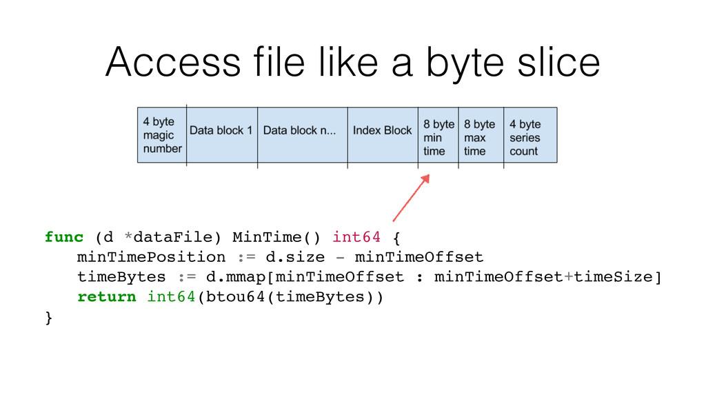Access file like a byte slice func (d *dataFile)...