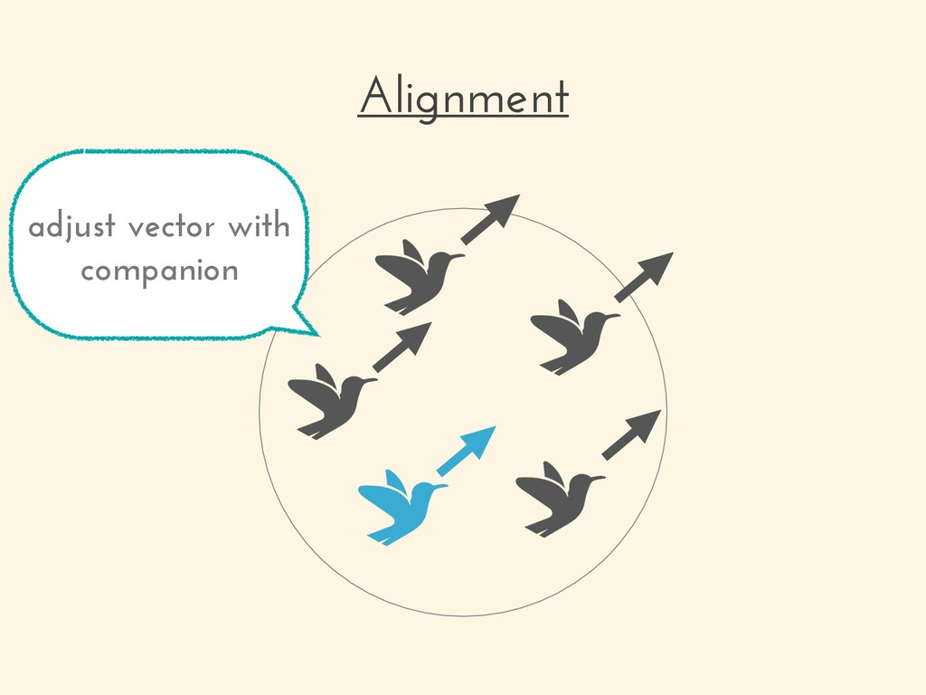 Alignment adjust vector with companion