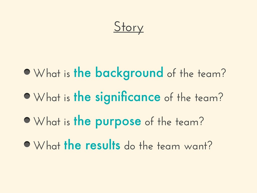 What is the background of the team? What is the...
