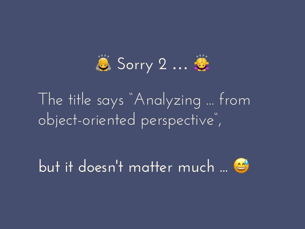 """Sorry 2 …  The title says """"Analyzing ... from ..."""
