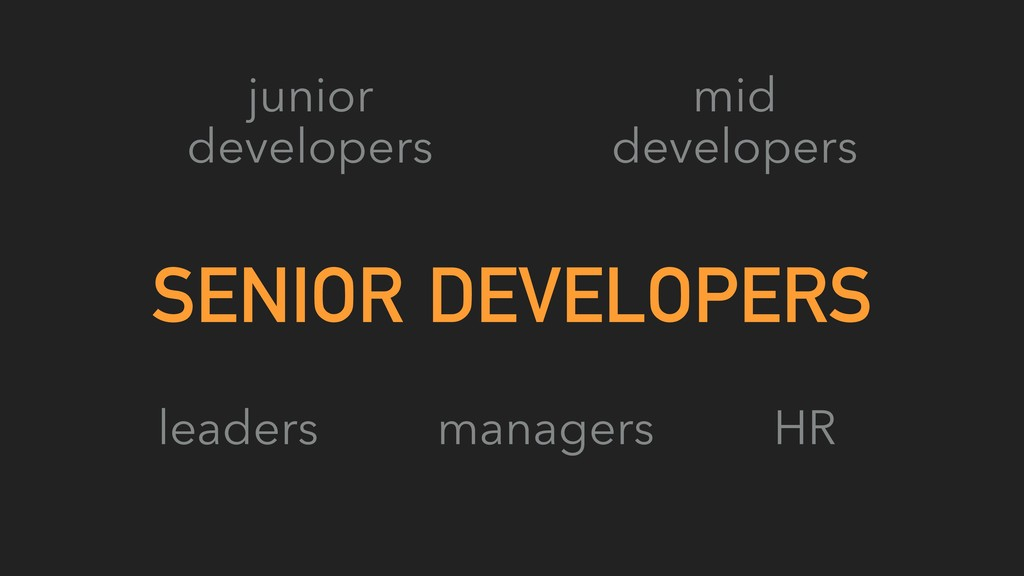 SENIOR DEVELOPERS junior developers mid develop...
