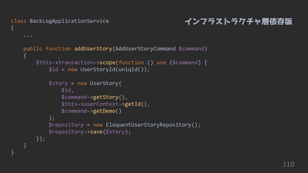 110 class BackLogApplicationService { ... publi...