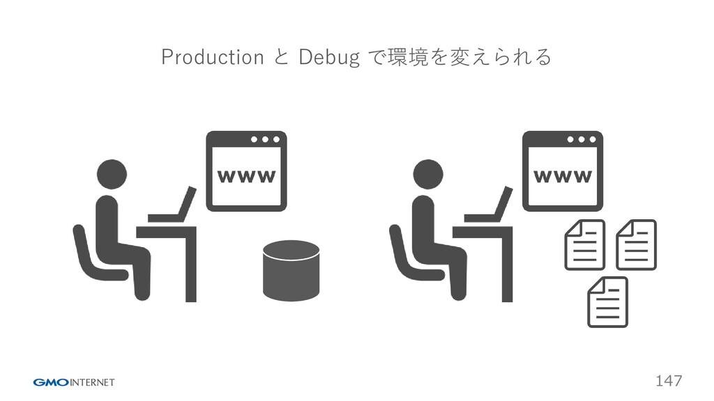147 Production と Debug で環境を変えられる