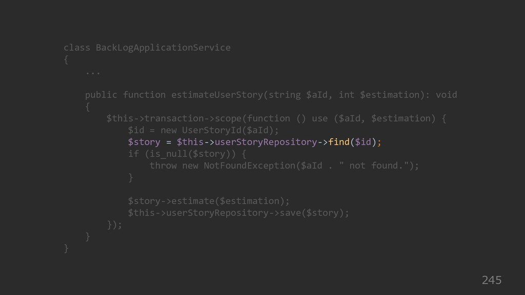 245 class BackLogApplicationService { ... publi...