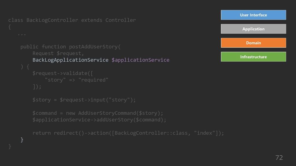 72 class BackLogController extends Controller {...