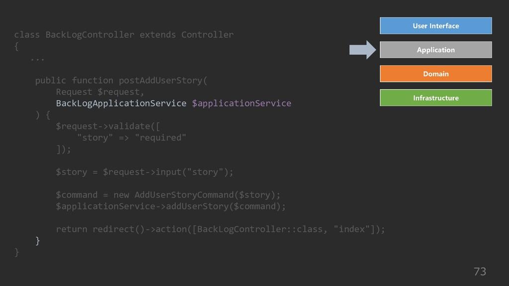 73 class BackLogController extends Controller {...