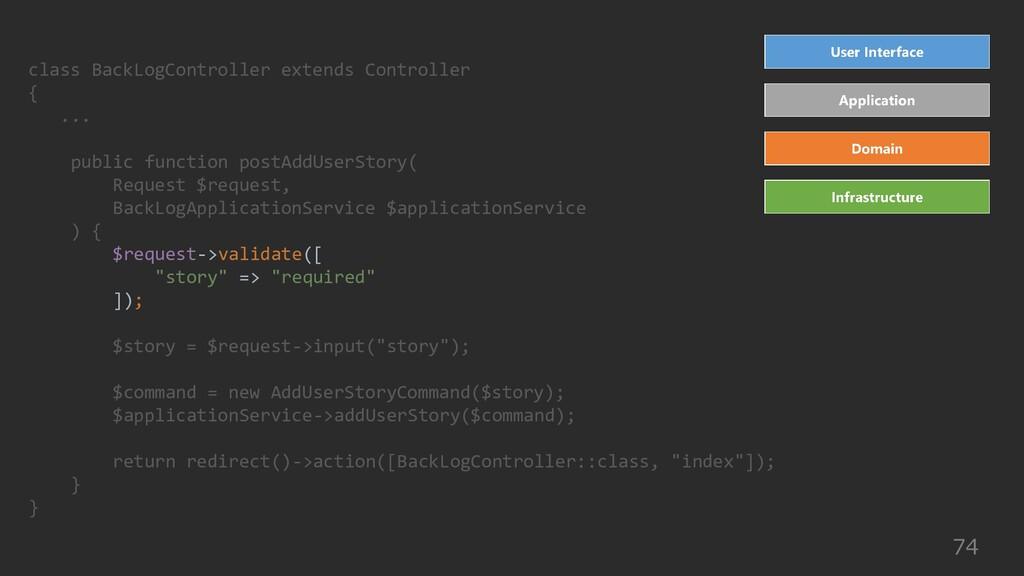 74 class BackLogController extends Controller {...