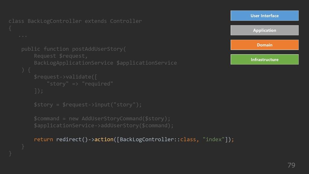 79 class BackLogController extends Controller {...