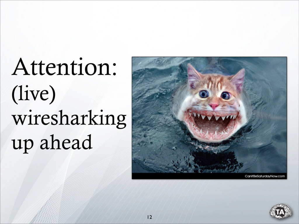 Attention: (live) wiresharking up ahead 12