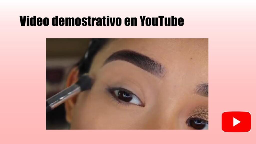 Video demostrativo en YouTube