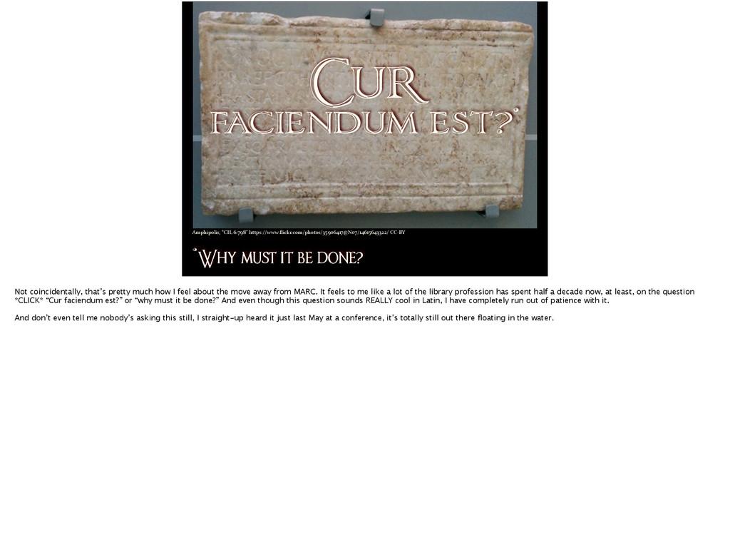Cur faciendum est?* *Why mu! it be done? Amphip...