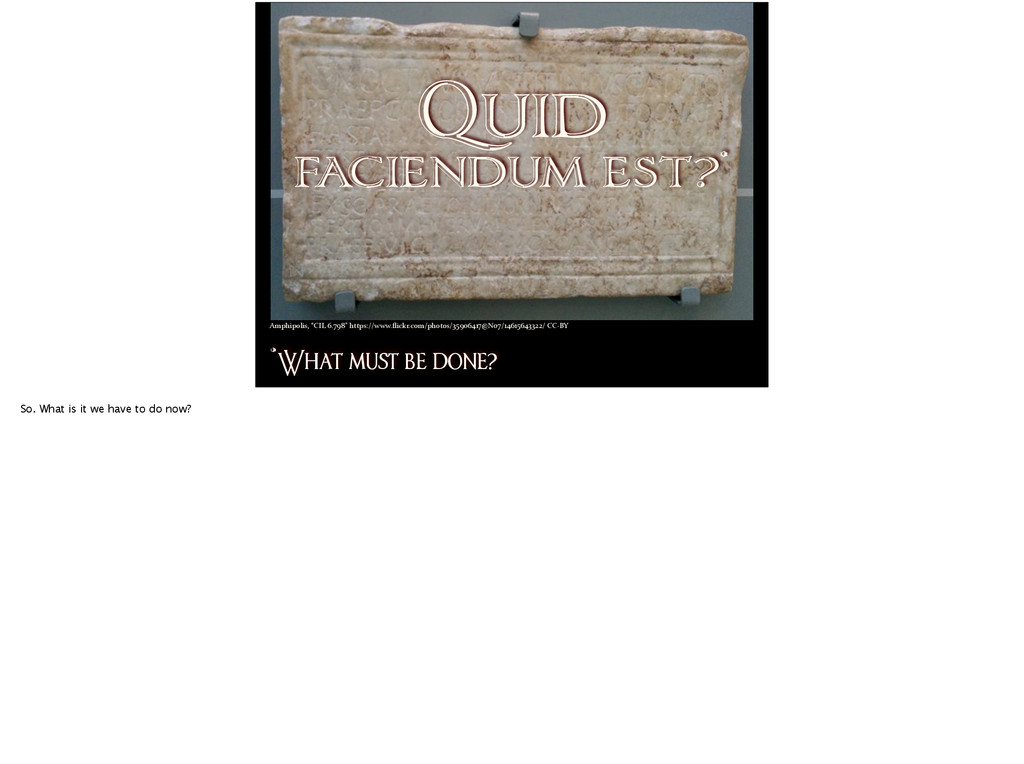 Quid faciendum est?* *What mu! be done? Amphipo...