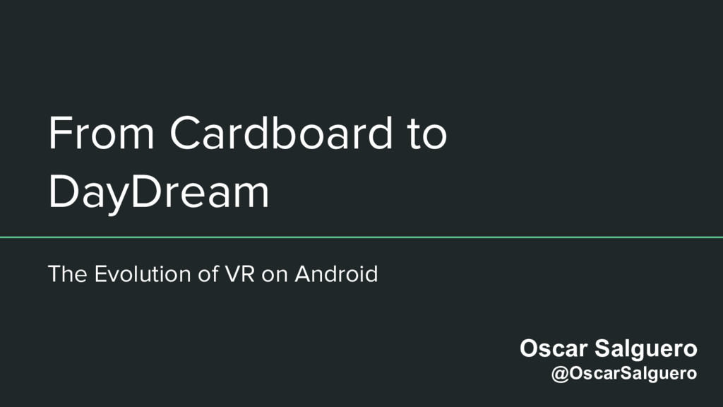 From Cardboard to DayDream The Evolution of VR ...